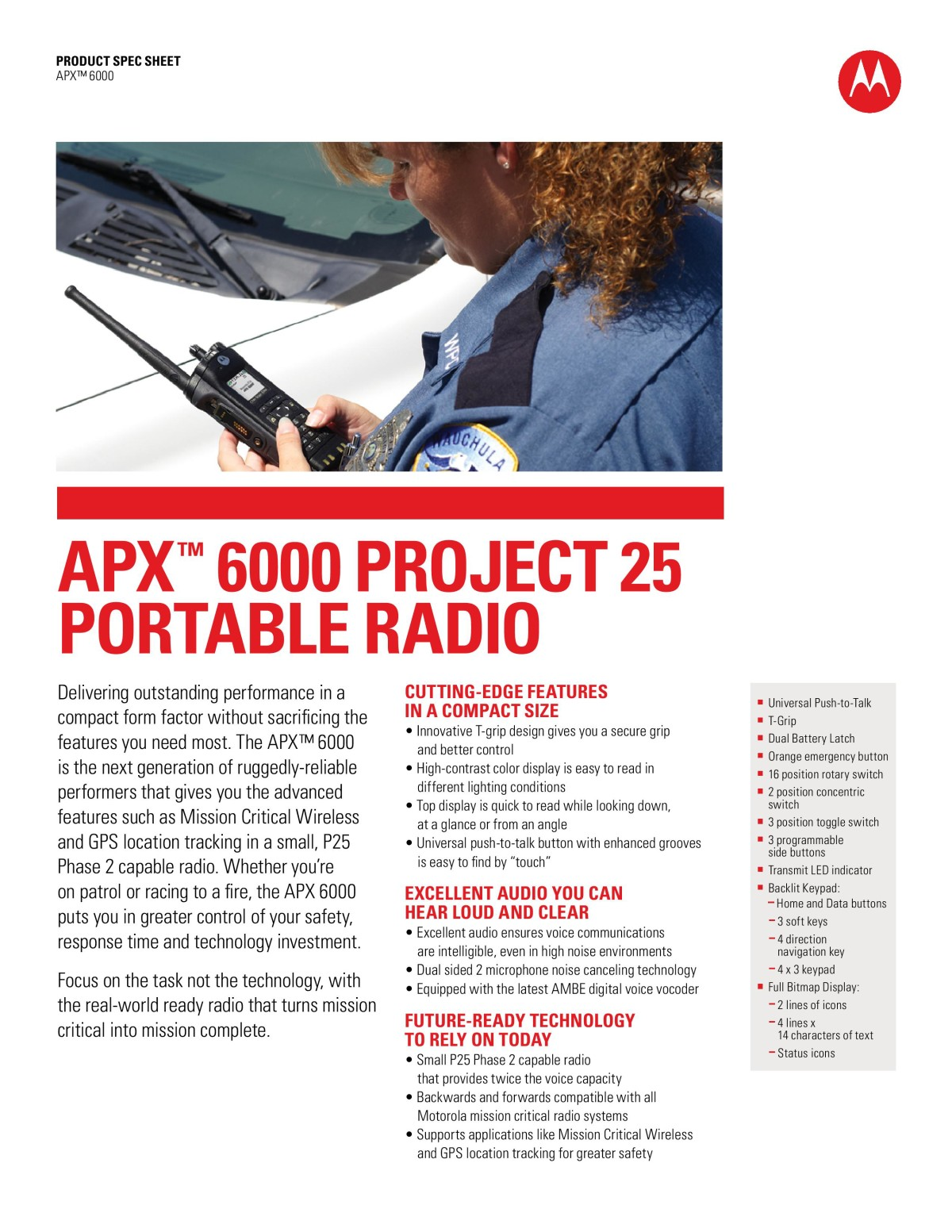 Apx6000 Project 25 Portable Radio